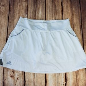 ADIDAS Tennis Skort White with Black Trim Size L